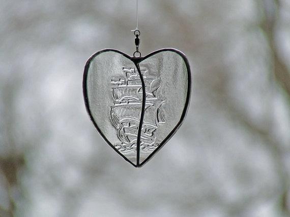 Wanderlust Transparent Heart for Bon Voyage Gift, Valentine's Day Decor, Unique Gift