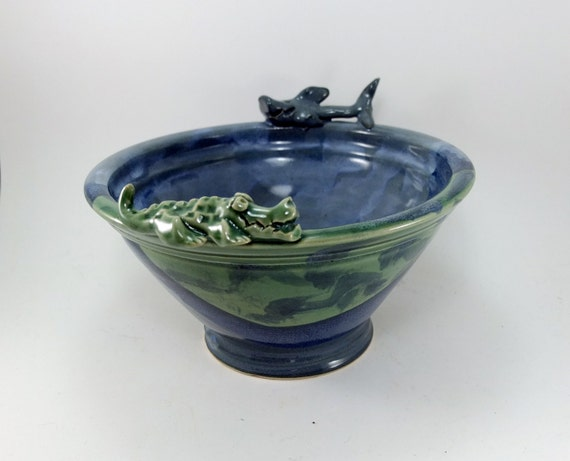 shark and alligator bowl