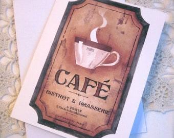 SALE    CAFÉ Notecard