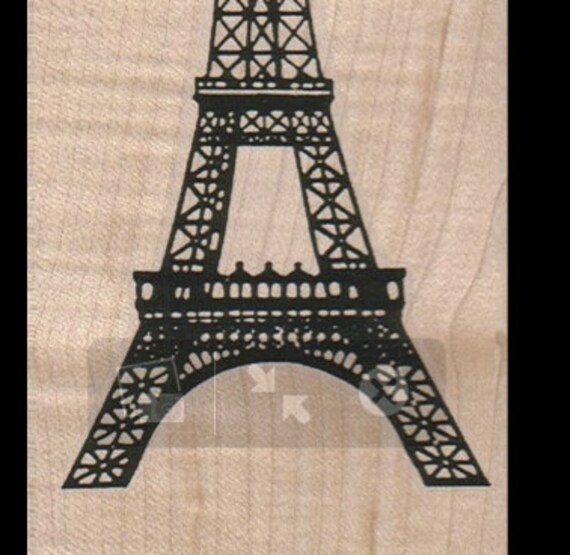 Medium eiffel tower rubber stamp art and craft supplies for Rubber stamps arts and crafts