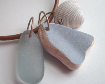 BEACH MEMORIES Mix and Match Sea Glass Finds Charm Necklace by Lake Erie Beach Glass LEbg