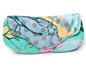 SALE Clutch - Fold Over Snap Closure with Large Print Butterflies, Birds and Blossoms