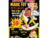 Ever Tick 1950 Howdy Doody children's watch reproduction STORE COUNTER DISPLAY