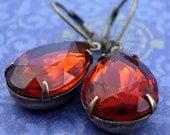 Dolce: medeira topaz vintage pear jewel earrings