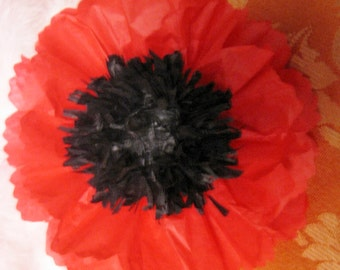 25 Paper Poppy Flower Napkin Rings,Open,Ribbon Bands,Lace bands, Oz, Banquet Garden Party, Tea Party,Ready to Use