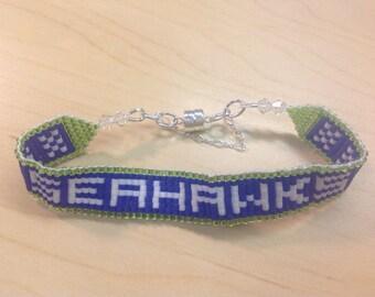 Seattle Seahawks Beaded Bracelet