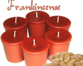 6 Frankincense Votive Candles Earthy Scent