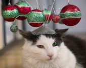 Holiday Ornament Cat Fascinator
