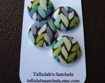 Wearable Sew On Fabric Covered Buttons - Size 36 or  7/8 inches Weave