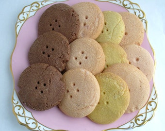 Shortbread Buttons 1 dozen Shortbread Cookies