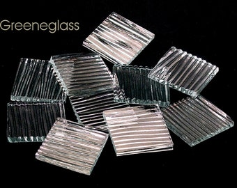 Clear Chord Glass for Mosaics and Stained Glass - Med Pack - Diamond, Triangles, Rectangles, Squares, Strips