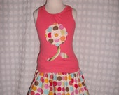 Mod Blooms Skirt Set for Girls READY TO SHIP Size 4/5