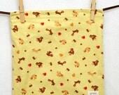 SALE - Yellow Squirrels (zipper) - Medium Reusable Sandwich Bag from green by mamamade