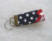 Mini Key Fob  - American Flag print