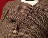 NVL 1940s 48 bust Work wear inspired plaid blouse PLUS SIZE