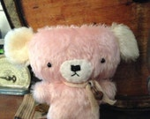 Primitive Mohair Bear Pink and Cream ready to ship