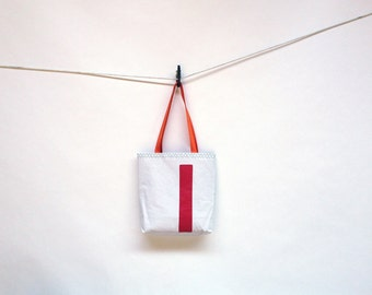Recycled Sail Red Number 1 Tote