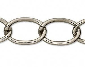 Gunmetal Finished Cable Chain, 7x5 mm Oval Cable, 76 Inches