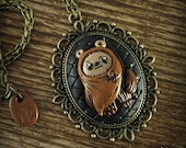 Ewok Inspired Cameo Necklace