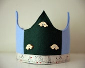 SALE Wool Felt Crown - Toys on Wheels