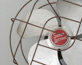 Super Electric Metal Industrial Rustic Rusty Fan