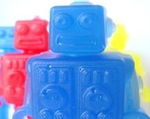 Robot Soap Set Colorful Children Scented Glycerin Vegan Birthday Baby Shower Favor