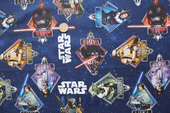 Star Wars Characters In Diamonds Multi Fabric By