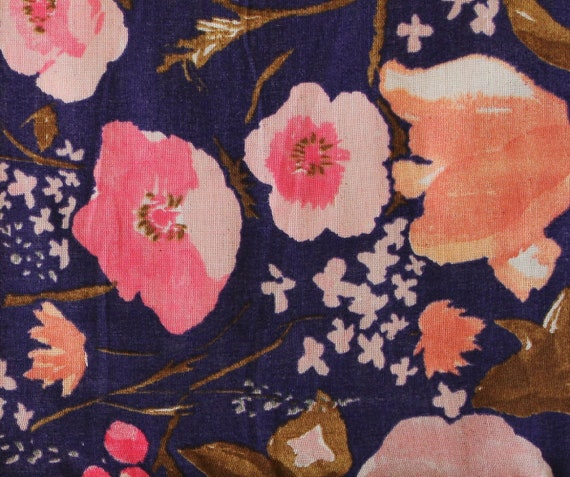 Nani Iro Kokka Fuccra : rakuen Japanese Fabric - dark purple / blue