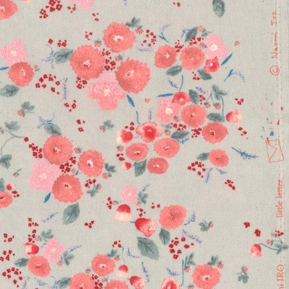 Nani Iro Japanese Fabric Kokka Little Letter A/W - A metallic - 50cm