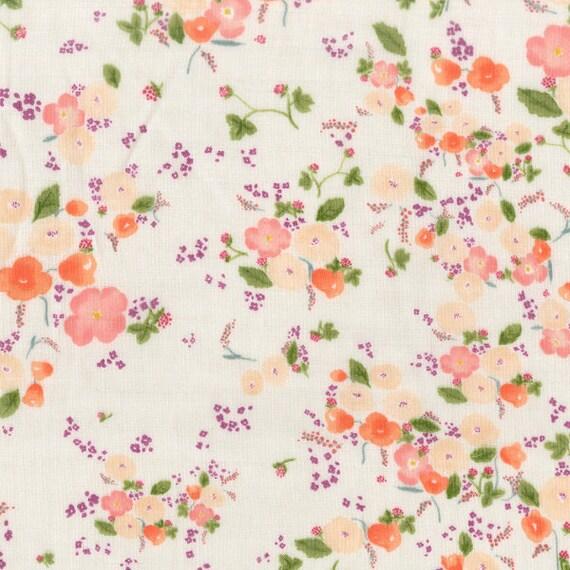 Nani Iro Little Letter Double Gauze Japanese Fabric - Eliza