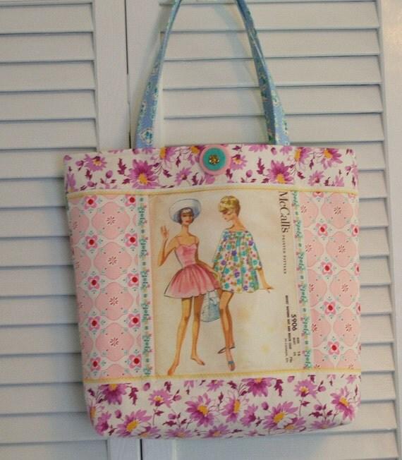 Vintage handbag purse sewing pattern
