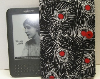 Kindle, Nook, Ereader Case Night and Day Fabric