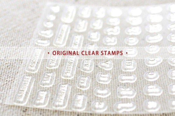 09 - ORIGINAL CLEAR STAMPS - Ming type alphabet and number