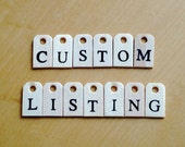 Custom Listing for Rachel