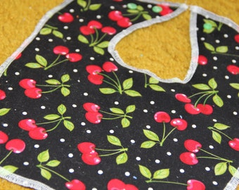 Bunches of Cherries Baby and Toddler Bib