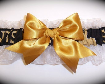 New Orleans Wedding Garter   Handmade  Keepsake   Bridal ogb1