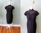 1950s A Spell On You lbd peekaboo circles sheer wiggle dress AS IS - sm