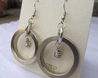 Repurposed hard drive component earrings