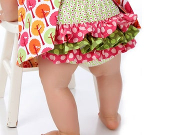 Sewing Patterns for Babies - Ruffled Diaper Cover Sewing Pattern - PDF