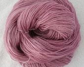 hand dyed, fingering weight yarn, 80 / 20 superwash merino and tussah silk