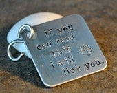 lick you pet tag - hand stamped in aluminum