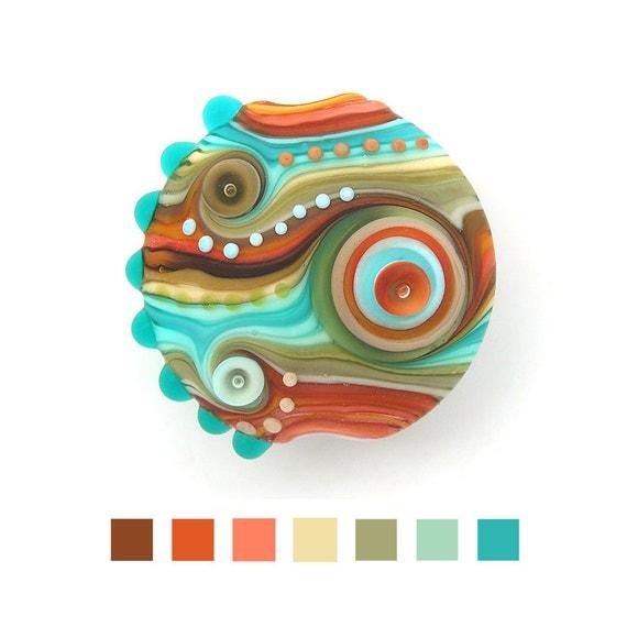 Handmade lampwork glass bead (1)Free worldwide shipping