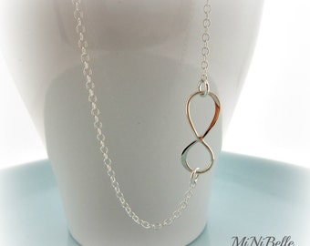 Infinity Necklace. Simple Necklace. Bridesmaids Necklace. friendship