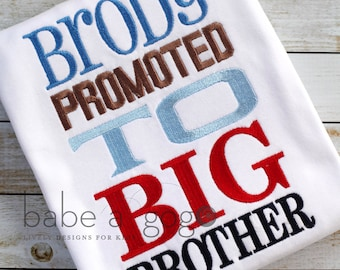 Big Brother Promoted Tee Shirt by babe-a-gogo for Toddlers, Boys