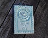 House of Dog Ceramic Tile in Celadon Green