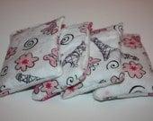 HANDWARMERS or BOOBOO BUDDY. reusable handwarmers/ice packs set of two. Butterflies in Paris