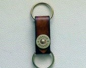 Leather Keyring with Shotgun Shell Snap, Hunter's Keyring