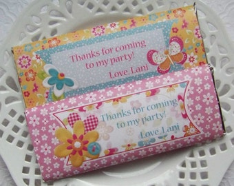 Printable Personalized Hello Sunshine Birthday Large Candy Bar Wrappers