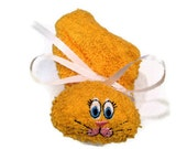 Boo-boo Bunny Ice Pack Embroidered Rabbit Yellow or Goldenrod for Baby Shower Basket