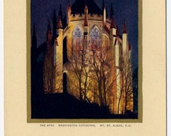Vintage Unused Postcard Washington Cathedral Mt. St. Albans. D.C.